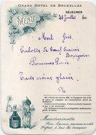 Menu Grand Hotel De Bruxelles - Pub Mandarinette ..... (110945) - Menükarten