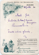 Menu Grand Hotel De Bruxelles - Pub Mandarinette ..... (110945) - Menus