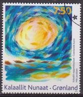 Art Moderne, Peinture - GROENLAND - Soleil Et Spirale De Poissons, Miki Jacobsen - N° 533 -  2009 - Groenland