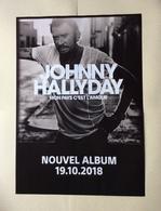 Affiche Promo Du Denier Album De Johnny Hallyday 2018 .  Mon Pays C'est L'Amour - Posters
