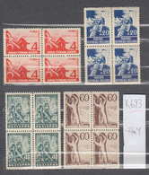 0693 K Bulgaria 1948 Michel Nr.646/49 -  Holidaying **MNH READING BOOK MUSIC ACCORDION  BASKETBALL SPORT GLOBE CINEMA - 1945-59 People's Republic