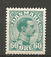 Yv. DK  N°  146  *    60o  Christian X   Cote  9 Euro BE  2 Scans - 1913-47 (Christian X)