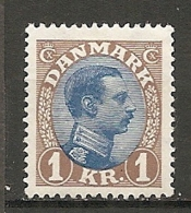 Yv. DK  N°  147  *   1k  Christian X   Cote  52,5 Euro BE R 2 Scans - 1913-47 (Christian X)