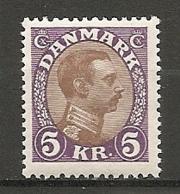 Yv. DK  N°  148A  *   5k  Christian X   Cote  9 EuroT BE  2 Scans - 1913-47 (Christian X)