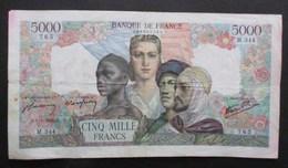 BILLET 5000 CINQ MILLE FRANCS LAFAYETTE 1945 EMPIRE FRANCAIS COLONIES - 1871-1952 Antichi Franchi Circolanti Nel XX Secolo