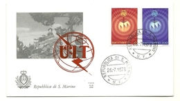 1978 - San Marino 1007/08 Giornata Delle Telecomunicazioni - FDC - FDC