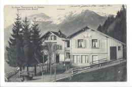 21317 - Kurhaus Tannenberg Ob Haslen Besitzer Fritz Streiff + Cachet - GL Glaris