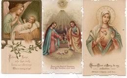 3 Images Religieuses  - Vierge, Creche, Ange Et Jésus. (110948) - Devotion Images