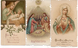 3 Images Religieuses  - Vierge, Creche, Ange Et Jésus. (110948) - Images Religieuses