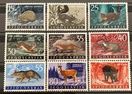 Yugoslavia, 1960, Mi: 917/25 (MNH) - Animalez De Caza