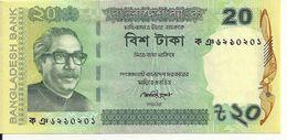 BANGLADESH 20 TAKA 2012 UNC P 55A - Bangladesh