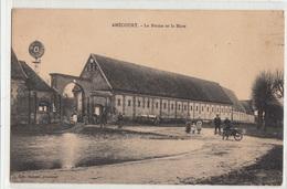 CPA- AMECOURT - La Ferme Et La Mare- (animée Enfants Femmes Hommes Brouette)-dép27- 2scans - France