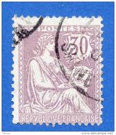 Ja076 YvT 128 Mouchon 30c Violet (0) - 1900-02 Mouchon