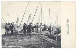 """Cpa Grèce - Quai De Moudros ( écrite Du Bateau """" Patrie """", Voir Scan Du Verso, Marine Militaire Française, Marins ) - Grèce"""