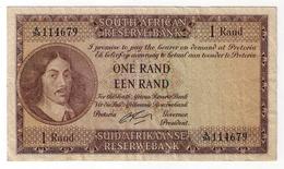 Afrique Du Sud  :    Billet  1 Rand  1962  ... - Afrique Du Sud