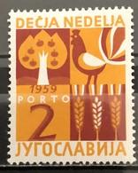 Yugoslavia, 1959, Porto, Mi: 19 (MNH) - Nuovi