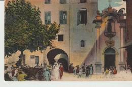 CPA - VENCE - LA PLACE DE L'EGLISE - 9 - L. L. - MARIAGE - Vence