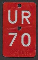 Velonummer Uri UR 70 - Plaques D'immatriculation