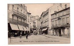 CPA 63 - Thiers - La Sous Préfecture Et La Rue Nationale - Thiers