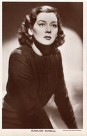 Rosalind Russell.  Actress.   Picturegoer Series. RPPC. (Card Number 1236). - Schauspieler