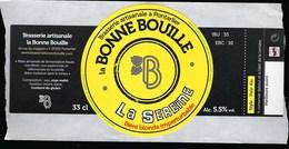 Etiquette Biere  Blonde Imperturbable Bonne Bouille La Sereine  5,5%  33cl   Brasserie  La Bonne Bouille Pontarlier 25 - Bière