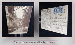 COURTRAI Boulevard Van Den Peereboom {francais Néerlandais} - Cartes Postales
