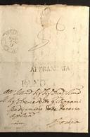 1840 DA FANO AFFRANCATA PER ESPRESSO PER ROMA - Italy