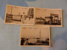 Porticciolo TOLONE  3 Foto BARCHE E MOVIMENTATE 1957 - Barche