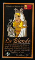 Etiquette Biere Blonde  4,9%  33cl   Brasserie Hommey Livre 14 - Bière