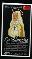Etiquette Biere Blanche  4,9%  33cl   Brasserie Hommey Livry 14 - Bière