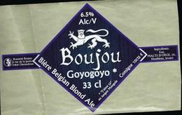Etiquette Biere Belgian Blonde Ale Boujou Goyogoyo  6,5%  33cl   Brasserie Boujou Chennebrin 27 - Bière