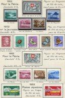 10666 SUISSE  Collection Vendue Par Page  °/**  Pro Patria   1952-53  TB/TTB - Suisse