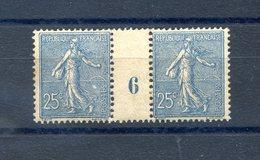 France - Semeuse N°132 - Millésime 6 - Neuf** - 2 Scans - (F085J) - 1903-60 Säerin, Untergrund Schraffiert