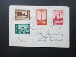 Jugoslawien 1946 Panslawischer Kongreß Nr. 507 - 510 Bedarfsbrief In Die Schweiz! Stempel Kranj 1 12.12.1946 - 1945-1992 République Fédérative Populaire De Yougoslavie