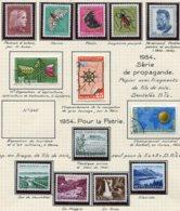 10667 SUISSE  Collection Vendue Par Page  °/**  Pro Patria Et Pro Juventute   1953-54  TB/TTB - Suisse