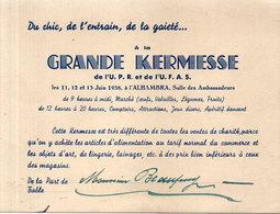 Invitation Grande Kermesse De L' U.P.R. Et De L' U.F.A.S. En 1938 A L' Alhambra    (110954) - Programmes