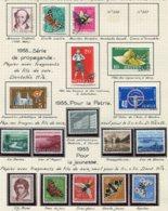 10668 SUISSE  Collection Vendue Par Page  °/**  Pro Patria Et Pro Juventute   1954-55  TB/TTB - Suisse