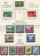10669 SUISSE  Collection Vendue Par Page  °/**  Pro Patria Et Pro Juventute   1956  TB/TTB - Suisse