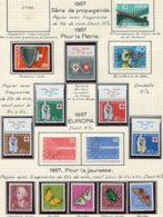 10670 SUISSE  Collection Vendue Par Page  °/**/*  Pro Patria Et Pro Juventute   1957  TB/TTB - Suisse