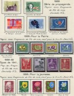 10671 SUISSE  Collection Vendue Par Page  °/**/*  Pro Patria Et Pro Juventute   1958-59  TB/TTB - Suisse