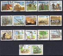 Zimbabwe 1995-6 Culture Definitives Set Of 17, Used, SG 888/903 (BA) - Zimbabwe (1980-...)