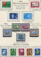 10675 SUISSE  Collection Vendue Par Page  °/ */**     1960  TB/TTB - Suisse