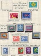 10676 SUISSE  Collection Vendue Par Page  °/ *    1961  TB/TTB - Suisse
