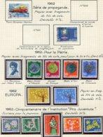 10677 SUISSE  Collection Vendue Par Page  °/ *    1962  TB/TTB - Suisse
