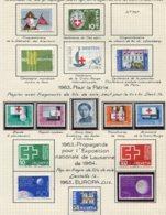10678 SUISSE  Collection Vendue Par Page  °/ *    1963-64  TB/TTB - Suisse