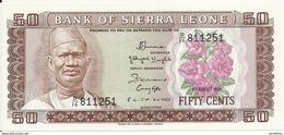 SIERRA LEONE 50 CENTS 1984 UNC P 4 E - Sierra Leone
