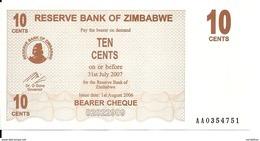 ZIMBABWE 10 CENTS 2006 UNC P 35 - Zimbabwe
