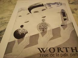 ANCIENNE PUBLICITE PARFUM VERS LE JOUR  WORTH 1930 - Parfums & Beauté