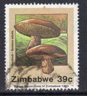 Zimbabwe 1992 Edible Mushrooms 39c Value, Used, SG 827 (BA) - Zimbabwe (1980-...)