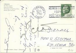 "Yugoslavia 1961 Visegrad Postcard - Slogan / Flamme ,, Molimo Da U Adresi Posiljke Ispisete Postanski Broj "" - 1945-1992 Sozialistische Föderative Republik Jugoslawien"